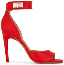 Givenchy - Sandali 'Shark Lock 105' - women - Suede/Leather - 35, 36, 39 - Rosso