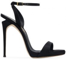 Faith Connexion - Sandali con tacco stiletto - women - Lamb Skin/Silk - 36, 38.5, 39, 40, 37, 37.5 - BLACK