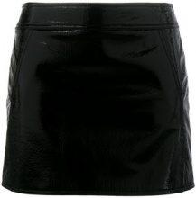 Saint Laurent - Minigonna - women - Silk/Deer Skin - 40, 44 - BLACK