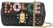 Dolce & Gabbana - Borsa a spalla - women - Lamb Skin/Calf Leather/Ayers Snakeskin/metal - One Size - BLACK