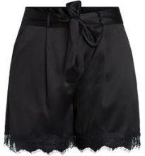 PIECES High Waist Lace Shorts Women Black