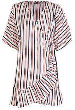 Mattie Stripe Batwing Wrap Dress