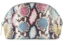 Elisabeth Weinstock - Dubai cosmetic bag - women - Lamb Skin/Watersnake Skin - OS - MULTICOLOUR