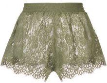 Puma - Pantaloni corti pizzo - women - Nylon/Cotton - XS, S, M - GREEN