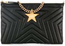 Stella McCartney - Clutch Stella Star - women - Polyurethane - One Size - BLACK