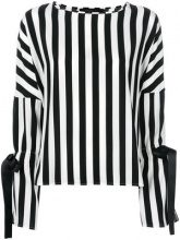 Federica Tosi - Blusa a righe - women - Silk/Spandex/Elastane - 38, 40, 42, 44 - BLACK
