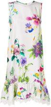 P.A.R.O.S.H. - Vestito floreale - women - Silk/Cotton/Polyester - S, M - WHITE