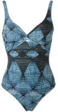 Lygia & Nanny - twist detail swimsuit - women - Polyamide/Spandex/Elastane - 42, 38, 40, 48, 52 - BLUE