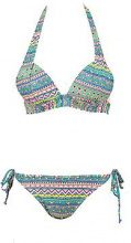Bodrum Aztec Push Up Triangle Bikini