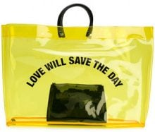 Dsquared2 - Love Will Save The Day shopper - women - PVC - One Size - YELLOW & ORANGE