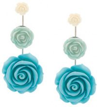 Dannijo - Beck earrings - women - Acrylic/ottone placcato argento - OS - BLUE