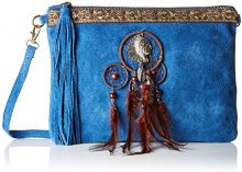 Chicca Borse 1525, Borsa a Spalla Donna, Blu (Blue), 30x22x2 cm (W x H x L)