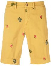 Jeckerson - Shorts aderenti con ricamo - men - Cotton/Spandex/Elastane/Viscose - 31, 32, 33, 34, 35, 36 - YELLOW & ORANGE