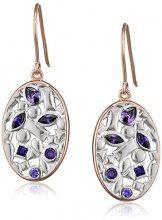 Elements Silver Donna  925  argento Pera   viola Zirconia cubica
