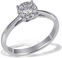 Goldmaid Anello da donna Reflexion fidanzamento oro bianco 750, rodiato con diamante (0,38ct) taglio brillante bianco–Pa r6920wg, oro bianco, 56 (17.8), cod. Pa R6920WG56