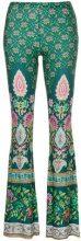 Black Coral - Pantaloni stampati 'Namaste' - women - Viscose/Spandex/Elastane - One Size - GREEN