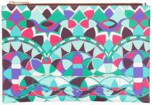 Emilio Pucci - Pochette con stampa grafica - women - Leather - OS - Multicolore