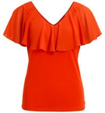VILA Deep Back - Short Sleeved Top Women Orange