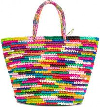 Sensi Studio - maxi double handles tote - women - Straw - OS - MULTICOLOUR