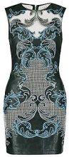 Premium Elisha Embroidered PU Cold Shoulder Dress