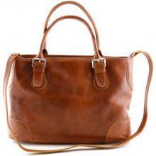 Borsa a spalla Dream Leather Bags Made In Italy  Borsa A Spalla Per Donna 2 Scomparti Interni Colore Cognac - Pel