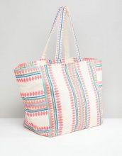 Accessorize - Bondi - Maxi borsa da spiaggia con motivo geometrico - Multicolore