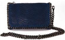 Borsa a spalla Dream Leather Bags Made In Italy  Borsa Donna A Tracolla In Vera Pelle Stampa Pitone Colore Blu -