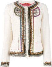 Bazar Deluxe - embellished jacket - women - Cotton/Polyamide/Viscose - 46 - NUDE & NEUTRALS