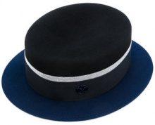 Maison Michel - Cappello panama con logo - women - Wool Felt - M - BLACK