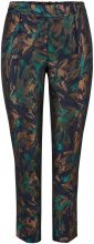 Y.A.S Floral Jaquard Trousers Women Brown