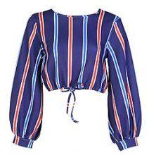 Petite Nina Tie Top con maniche voluminose davanti