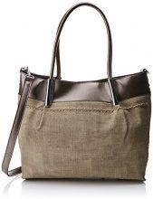 Swankyswans Suzie Faux Leather Handbag - Borse Tote Donna, Argento (Antique Silver), 12x30x28 cm (W x H x L)