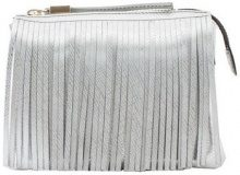 Borsa a tracolla Gum  bag 3689 with fringes silver