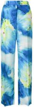 MSGM - abstract print tailored trousers - women - Silk/Polyester - 42, 44, 38, 40 - BLUE