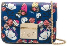 Furla - Borsa a spalla 'Metropolis Butterfly' - women - Leather - One Size - BLUE