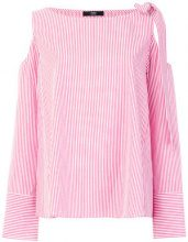Steffen Schraut - striped bow blouse - women - Cotton - 34, 40, 36, 38, 42 - RED