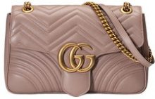 Gucci - Beige GG Marmont matelassé shoulder bag - women - Leather/metal/Microfibre - One Size - NUDE & NEUTRALS