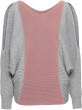 Pullover oversize bicolore