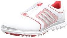 adidas Adistar Tour B, Scarpe da Golf Donna, Bianco (White/Matte Silver/Ray Red), 40 EU