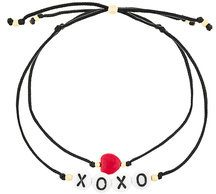 Venessa Arizaga - Set di bracciali 'Hugs And Kisses' - women - Cotton/Gold Plated Brass/glass - OS - BLACK