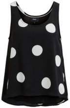 OBJECT COLLECTORS ITEM Dotted Sleeveless Top Women Black