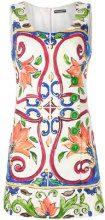 Dolce & Gabbana - Vestito con stampa Maiolica - women - Cotton/Silk/Viscose/Spandex/Elastane - 40, 44, 42 - WHITE