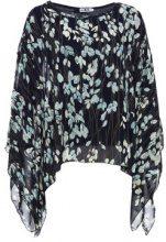 Maglia a maniche lunghe & tunica 2 in 1 con stampa a foglie
