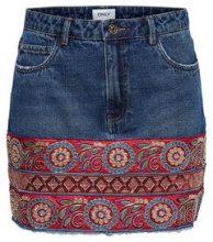 ONLY Ethnic Denim Skirt Women Blue