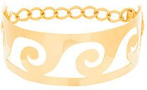 Elena Makri - wave cut-out choker necklace - women - Gold Plated Steel - OS - METALLIC