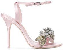 Sophia Webster - embellished detail sandals - women - Leather/Satin - 37.5, 38, 38.5, 39, 39.5, 40 - PINK & PURPLE