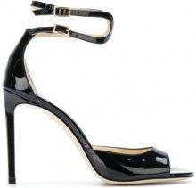 Jimmy Choo - double ankle strap sandals - women - Leather/Patent Leather - 36, 37, 37.5, 38, 38.5, 40 - BLACK