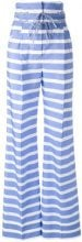 Ermanno Scervino - high-rise striped trousers - women - Cotton/Acetate/Cupro - 38, 40, 42, 46 - BLUE