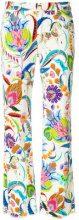 Etro - Jeans cropped con motivo a fiori - women - Cotton/Spandex/Elastane - 27 - MULTICOLOUR