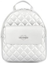 Love Moschino - small quilted backpack - women - Polyurethane - OS - METALLIC